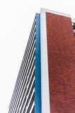 Building. Brick street modern architecture Royalty Free Stock Photos