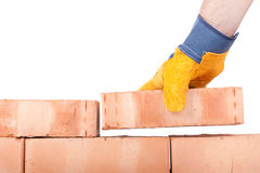 Building brick wall Royalty Free Stock Photos