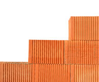 Building a brick wall. Royalty Free Stock Photography