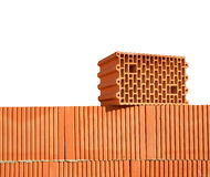 Building a brick wall. Royalty Free Stock Photos