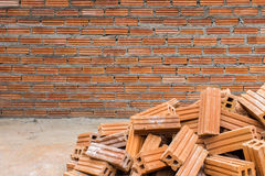 Building brick wall Stock Images