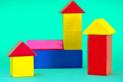 Toy building blocks Stock Photo