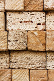 Building bricks from the coquina Royalty Free Stock Image