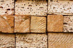 Building bricks from the coquina Royalty Free Stock Photo