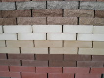 Building bricks. The decorative building colour bricks Royalty Free Stock Image