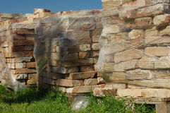Building bricks pallets Stock Image
