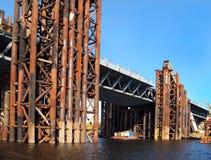 Building bridge. Briidge which is been build Stock Photo