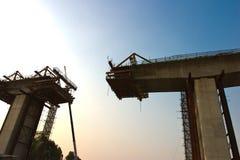 Building of the bridge Stock Photo