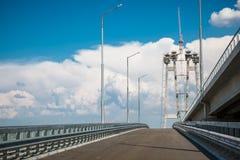Building a bridge Royalty Free Stock Photos