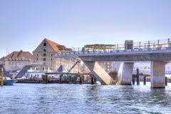 Building of bridge is in city Copenhagen Stock Images