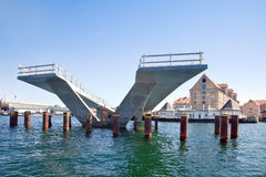 Building of bridge is in city Copenhagen Royalty Free Stock Image