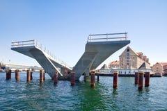 Building of bridge is in city Copenhagen Royalty Free Stock Image