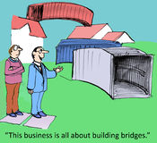 Building bridges. This business is all about building bridges stock illustration