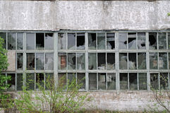 Building with broken windows Stock Photography