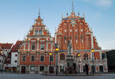 The building of the Brotherhood of Blackheads. Is one of the most iconic buildings of Old Riga Stock Photography