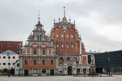 The building of the Brotherhood of Blackheads, Riga Stock Photos