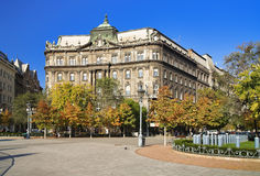 The building in Budapest stock photography