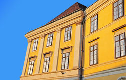 Building in Budapest. The classic yellow building in Budapest, Hungary Stock Images