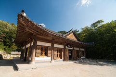 The building of Buddhist Sinheungsa Temple Royalty Free Stock Photos
