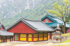 The building of Buddhist Sinheungsa Temple in Seoraksan. National Park, South korea Royalty Free Stock Photos