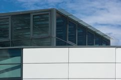 A building built of glass and metal. stock photo