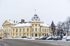The building of the Bulgarian Academy of Sciences in the winter Royalty Free Stock Photo