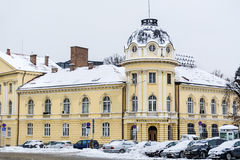 The building of the Bulgarian Academy of Sciences in the winter Royalty Free Stock Images