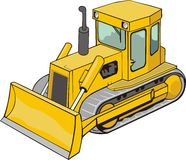 Building bulldozer Royalty Free Stock Photos