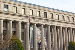 The building of Bureau of Engraving and Printing in Washington DC, USA. U.S. Stock Images