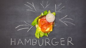 Building a Burger. Stop motion animation stock video
