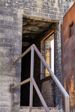 Building burn damage by fire EMS training Royalty Free Stock Image