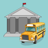 Building bus school design Royalty Free Stock Photos