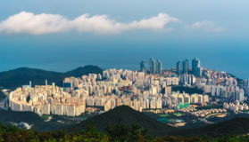 Building in Busan. From sky View Stock Photo