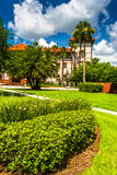 Building and bushes at Flagler College, St. Augustine, Florida. Stock Photography