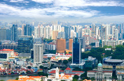 Building business city Singapore Royalty Free Stock Photos