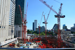 Building Business Construction Site at Bangkok Thailand Royalty Free Stock Photo