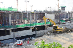 Building Business Construction Site at Bangkok Thailand Royalty Free Stock Photography