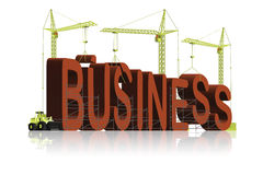 Building business corporation create success idea Royalty Free Stock Images