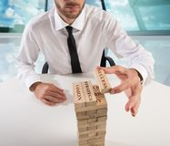 Building business game Royalty Free Stock Image