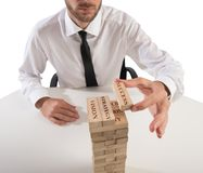 Building business game Stock Photo