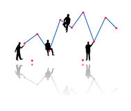 Building business growth chart Stock Photography