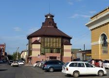 The building of the Business Incubator on Malo-Tobolskaya Street in Barnaul. stock photos