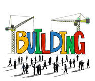 Building Business Strategy Stability Success Concept Stock Photography