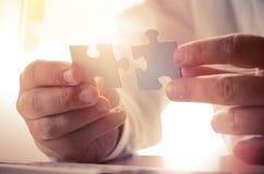 Building a business success Stock Images