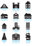 Building Buttons - black and white Royalty Free Stock Images