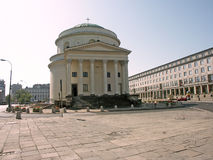 Building. Bydynek standing in the middle of the square Stock Photography