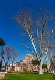 The building of the Byzantine church of St. Irene in Istanbul, Turkey royalty free stock images