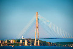 Cable bridge Royalty Free Stock Photos