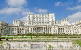 The building called Casa Poporului (People's House), the square Piata Constitutiei. Bucharest, Romania Stock Image