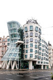 Building called Dancing House in Prague Royalty Free Stock Photo